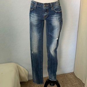 Express Rerock Fade Ripped Distressed Skinny Jeans